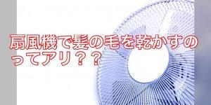 【暑すぎる!】扇風機だけで髪の毛を乾かすのはアリ??ナシ??