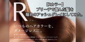 【Rカラー】ブリーチでチュルンチュルンになった髪の毛を暗めアッシュグレイに染めて見た!