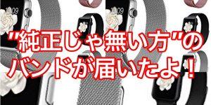 Apple Watchの純正じゃ無い方のバンドが届いたよ!