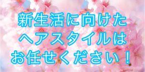 奈良市富雄の美容室で新生活に向けて綺麗にしませんか??