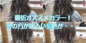 最近のヘアカラー!実は冬の方が明るい髪色が合う!?