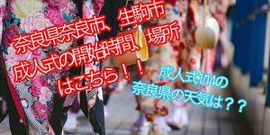 平成31年(H31)奈良県奈良市、生駒市の成人式の開始時間、会場場所はこちら!!朝2時起きで準備を始める奈良の美容師!